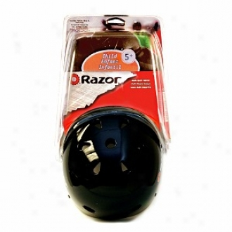 Razor V11 Infant Helmet & Pad Set, 5-8 Years, Gloss Black