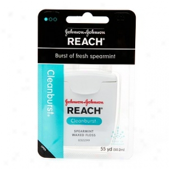 Reach Clean Burst Waxed Dental Floss, Cold Spearmint