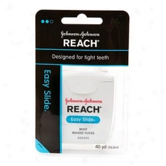 Reach Easy Slide Dental Floss, Waxed, Mint