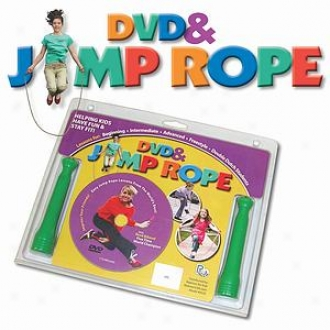 Redmon Fun & Fitness Kids Rene' Bibaud Dvd And Jump Rope Set