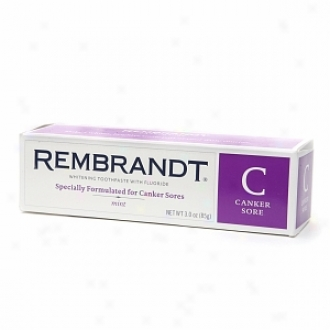 Rembrandt Canker Ulcer Whitening Toothpaste With Fluoride, Mint
