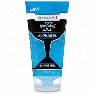 Remington King Of Shaves Alphagel Shave Gel For Sensiyive Skin, Aloe Enhanced