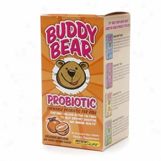 Renew Life Buddy Bear Probiotic, Chewable Bear Tablets, Orange