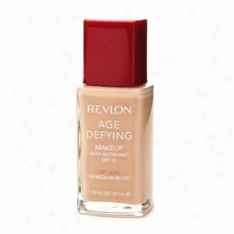 Revlon Age Defying Makeup Spf 15 Foundation With Botafirm For Dry Skin, Medium Beige 08