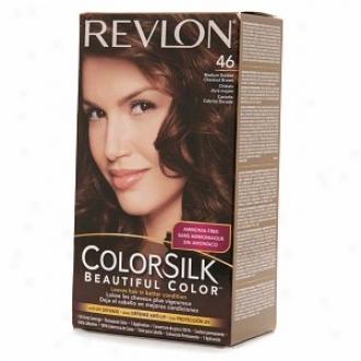 Revlon Colorsilk Beautiful Color, Medium Golden Chestnut Brown 46