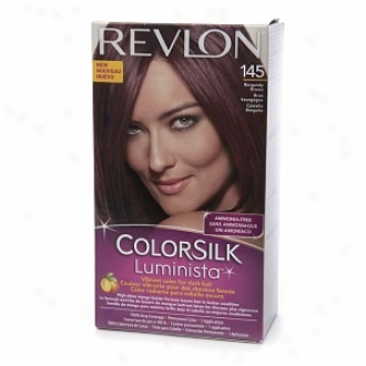Revlon Colorsilk Luminista Vibrant Color For Dark Hair, Burgandy Brown 145