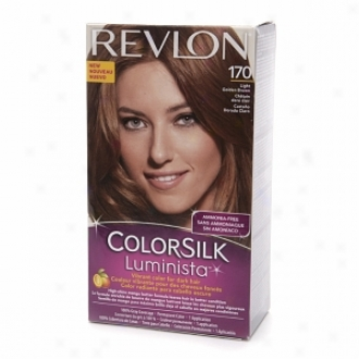 Revlon Colorsilk Luminista Vibrant Color For Dark Hair, Light Golden Brown 170