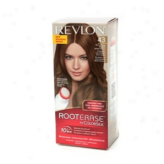 Revl0n Establish Erase Along Colorsilk Ammonia-free Permanent Color, Medium Golden Brown 43