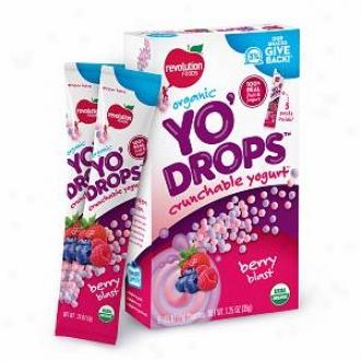 Revolution Foods Organic Yo'drops Crunchable Yogurt, Berry Blast