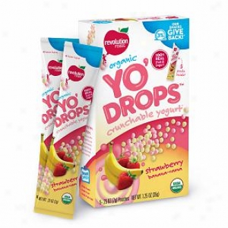 Revolution Foods Organic Yo'drops Crunchable Yogurt, Strawberry Banana-rama