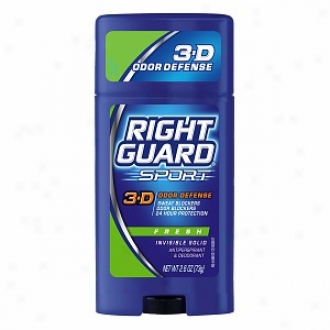 Right Guard Sport 3-d Odor Defense, Antiperspirant & Deodorant Invisible Solid, Fresh