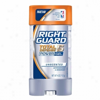 Right Guard Total Defense 5 Power Gel, Antiperspirant & Deodorant, Unscented