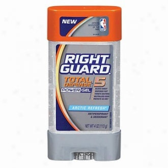 Right Guard Total Defense 5 Power Gel, Antiperspirant & Deodorant, Artic Refresh