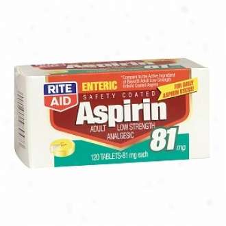 Rite Aid Aspirin, Adult Lpw Strength Analgesic, Tablets