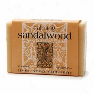 River Soap Conpany The whole of Vegetable Body Bar Soap, Calming Sandalwood
