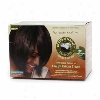 Roots Of Nature Remedies Conditioning Relaxer With Low Ph Relaxer Cream, Regular Strebgth