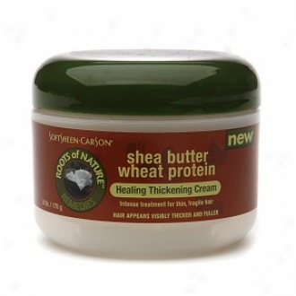 Roots Of Nature Remedies Shea Butter Wheat Protein Healing Thickening Cream