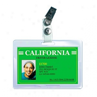 Royal Sovereign Hsat Sealed Lamination Pouches Id Badges 2 9/16 X 3 3/4 Punched W/clips 25 Pack