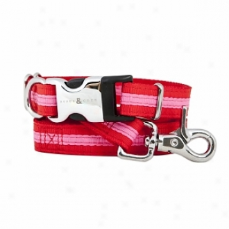 Rufus & Coco Bronte-stylish Striped Nylon Harness Small-medium, Red And Pink