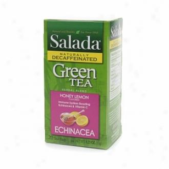 Salada Naturally Decaffeinated Green Infusion , Honey Lemon Echinacea
