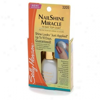 Sally Hansen Finish Treatment Claw Shine Miracle 10 Sunshine Top Coaf 3205, Clear