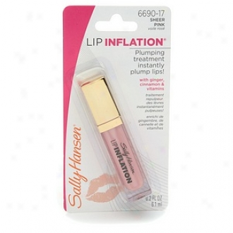 Sally Hansen Lip Inflation Sheer Pink Lip Plumper Gloss 6690-17, Sheer Pink
