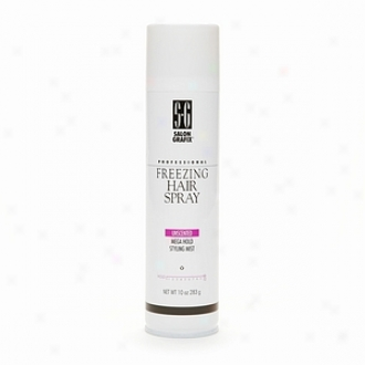 Salon Grafix Professional Feeezing Hair Spray Styling Mist, Unscented Mega Hold