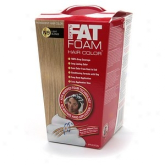 Samy Fat Foam Permanent Hair Color, Light Blonde N9