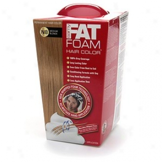 Samy Fat Foam Permanent Hair Color, Mediium Blonde N8