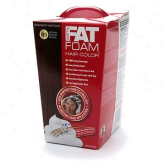 Samy Fat Foam Permanent Hair Color, Medium Reddish Brown R5