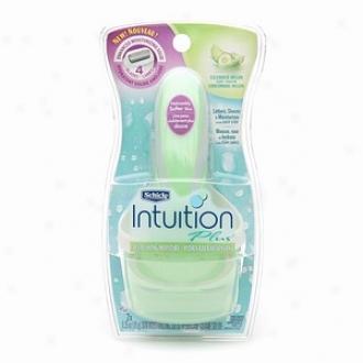 Schick Intuition Plus Razor, Refreshing Moisture, With Cucumber Melon