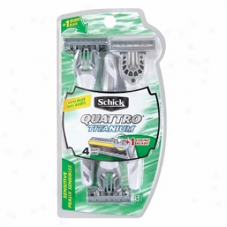 Schick Quattro Titanium Sensitive 4 Blade Disposable