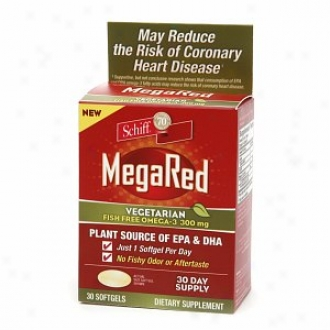 Schiff Megared Vegetarian Fish Free Omega-3, 300mg, Softgels