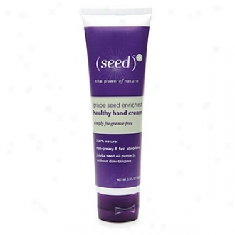 (seed)* Grape Seed Enriched Sound Hand Cream, Simply Fragrance Freee
