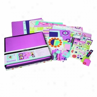Sei Ally's Wonderland 12  X 12  1 Hour Scrapbook Album Kit Ages 10+