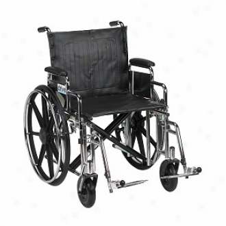 Sentra Extra Heavy Duty Wheelchair With Front Rigging 22