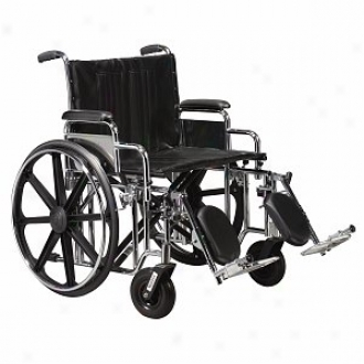 Sentra Unusual Heavy Duty Wheelchair With Front Rigging 24