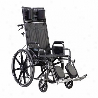 Sentra Reclining Wheelchair With Elevating Legrest 18