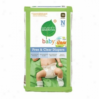 Seventh Body of equals in age Baby Free & Clear Diapers, Newborn, Up To 10 Lbs