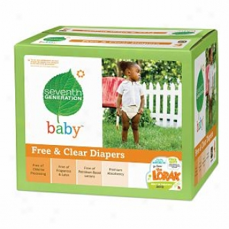 Seventh Generztion Baby Free & Clear Diapers, Super Jumno Box, Stage 4, 22-47 Lbs