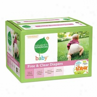 Seventh Generation Baby Free & Clear Diapers, Super Jumbo Box, Stage 3 16-28 Lbs