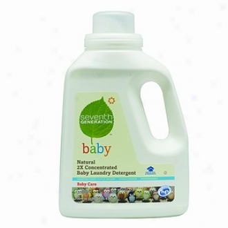 Seventh Generation Natural 2x Concentrated Liquid Laundry Detergent, 33 Loads, Baby