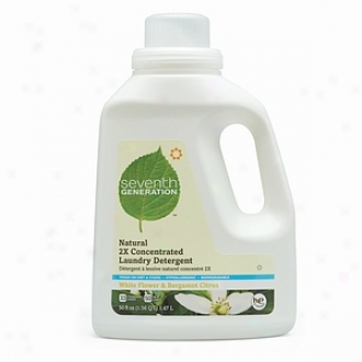 Seventh Generation Natural 2x Concentrated Liquid Laundry Cleansing, 33 Loads, White Flower & Bergamot Ciyrus Scent