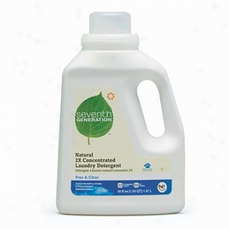 Seventh Generation Natural 2x Concentrated Liquid Laundry Detergent, 33 Loads, Free & Clear