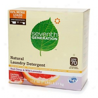 Seventh Generation Natural Laundr Detergent Powder, 70 Loads, Real Citrus & Wild Lavender