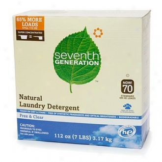 Seventh Generation Natural Lanudry Detergent Powder ,70 Loads, Free & Clear
