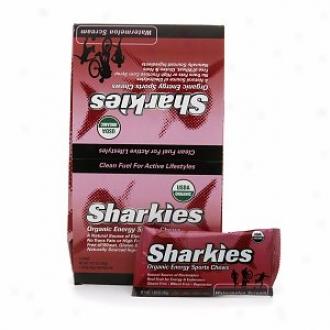 Sharkies Organic Energy Sports Chews, Watermelon Scream