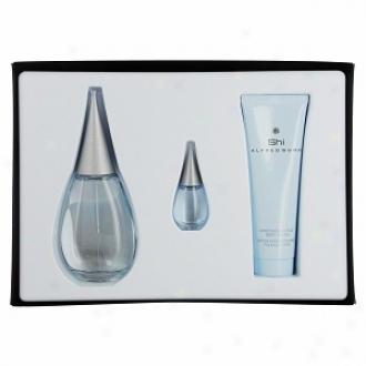 Shi By Alfred Sung Set-eau De Parfum Spray 3.4 Oz, Body Lotion 2.5 Oz, Parfum .24 Oz Mini Women
