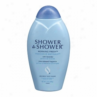Shower To Shower Absorbent Body Powder, Morning Fresh With Lavender