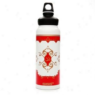 Sigg Aluminum Wide Mouth Water Bottle, 1 Litre, Taj Mahal White